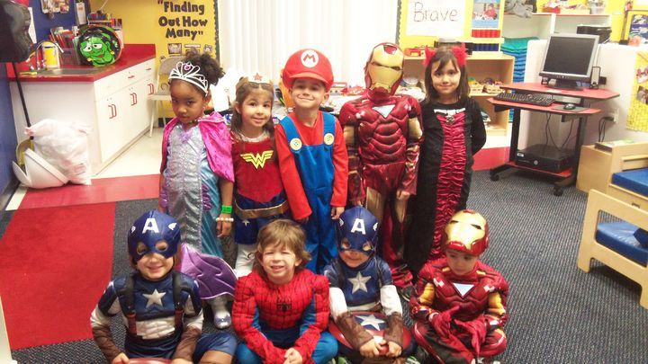 Pre-K 3 ready for some Trick or Treating.